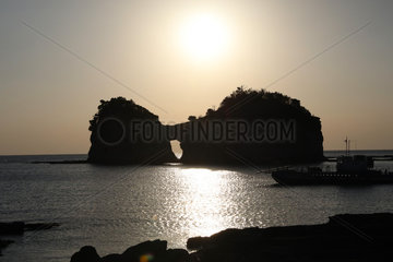 JAPAN-WAKAYAMA-ENGETSU ISLAND-SUNSET