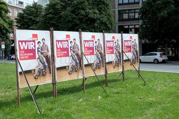Wahlplakate der SPD in Bayern