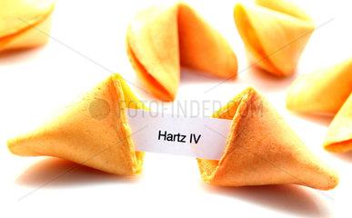 Hartz IV-Androhung in einem Glueckskeks