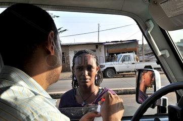 €thiopien. Medikamentenversorgung in einem Elendsviertel in Addis Adeba