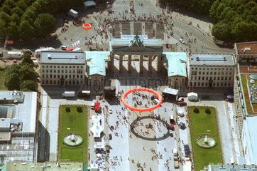 Brandenburger Tor am Kirchentag  Luftaufnahme