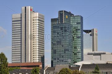 Zentrale der Deutschen Bahn AG und Zentrale der Dresdner Bank in Frankfurt
