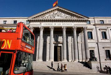 Das spanische Abgeordnetenhaus in der Hauptstadt Madrid