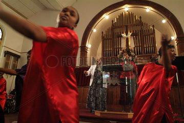 Gottesdienst in der First Baptist Church - Transformation Ministries in Charlottesville  Virginia