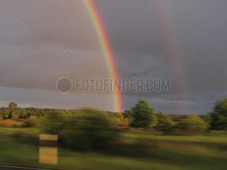 Braunschweig  Deutschland  Regenbogen
