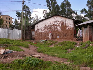 Elendsviertel in Addis Adeba
