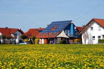 Solardach an einem Einfamilienhaus