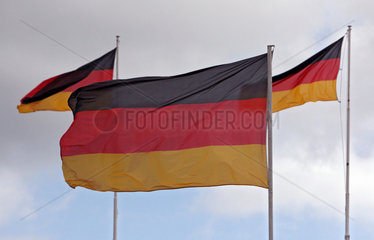 Hoppegarten  Deutschland  Nationalfahnen von Deutschland