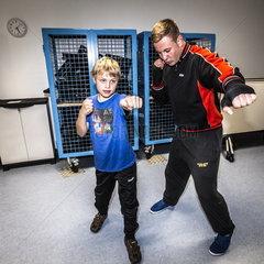 Boxtraining fuer Kinder