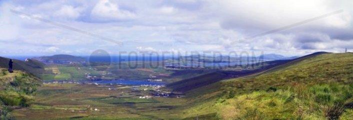 Panorama  Halbinsel Dingle  Kerry  Irland