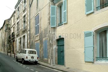 Eine Strasse in der Altstadt von Poitiers