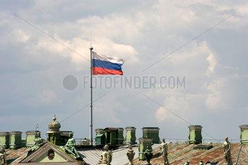 Sankt Petersburg  Russland  russische Fahne