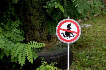 Hunde ausfuehren verboten!