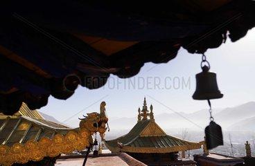 (InTibet)CHINA-LHASA-POTALA PALACE-GOLDEN TOPS-RENOVATION (CN)