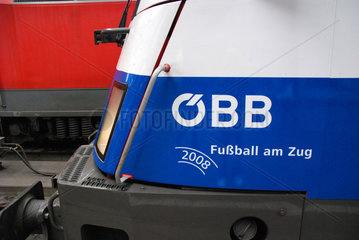 Fussball am Zug  EM Lok der OeBB
