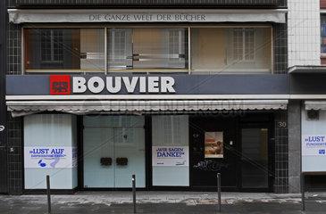 Schliessung der Traditionsbuchhandlung Bouvier in Bonn