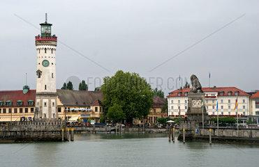 Hafeneinfahrt von Lindau am Bodensee