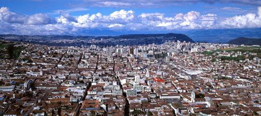 Panaramaansicht von Quito  Ecuador