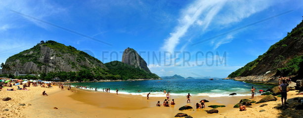 Panorama vom Praja Vermelho  Rio de Janeiro  Brasilien
