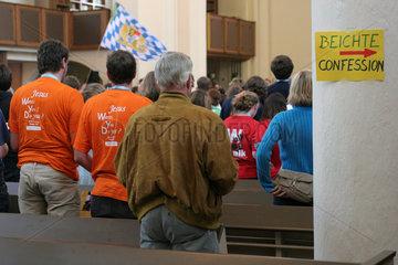 Weltjugendtag 2005  Pilger-Andacht in evang. Kirche
