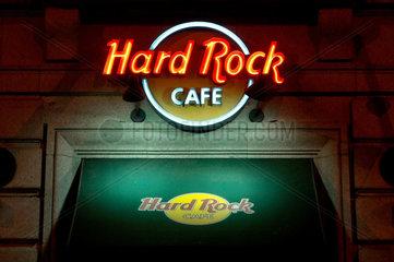 Eingang des Hard Rock Cafés in der spanischen Haputstadt Madrid