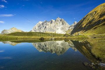 Eissee Oytal in den allgaeuer Alpen