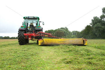 tractor with mower