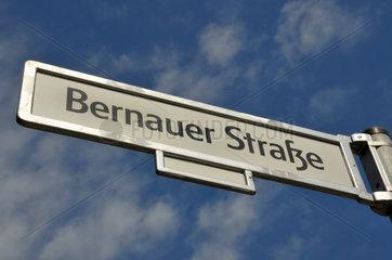 Bernauer Strasse an der Berliner Mauer