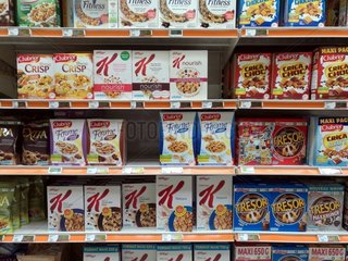 Cerealien im Supermarkt