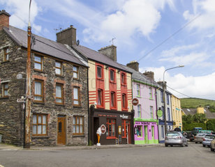 Wohnhaeuser in Dingle  County Kerry  Irland