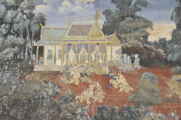 Koenigspalast in Phnom Penh  Kambodscha  Asien
