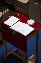 Juedische Gemeinde in Deventer  Niederlande: Pult mit Davidstern