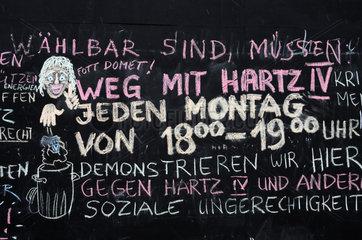 Koelner Montagsdemo gegen Hartz IV