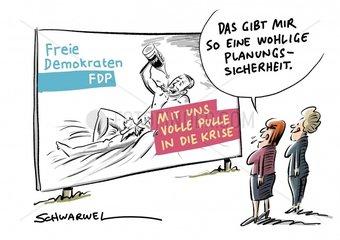 Wahlprogramm der FDP mit antiquiertem oekonomischen Weltbild