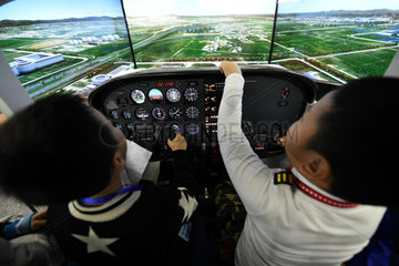CHINA-HEILONGJIANG-ENTREPRENEUR-FLIGHT SIMULATION-AVIATION (CN)