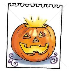 Halloween Kalenderblatt