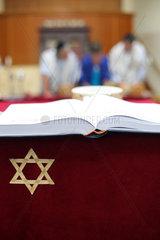 Juedische Gemeinde in Deventer  Niederlande: Davidstern und Testament