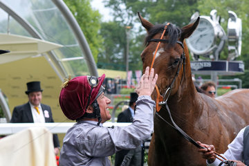 Royal Ascot  Baitha Alga with Frankie Dettori after winning the Norfolk Stakes