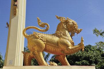 Vergoldeter Loewe (Singha) in Thailand
