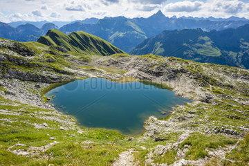 Der Laufbichelsee in den Allgaeuer Alpen