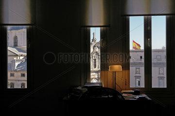 Fensterblick ueber Madrid