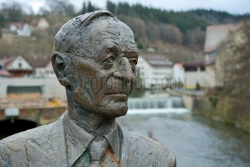 Hermann Hesse Denkmal in Calw