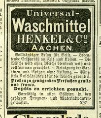 erste Waschmittelwerbung von Henkel  1877