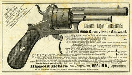 Werbung fuer Revolver  1877