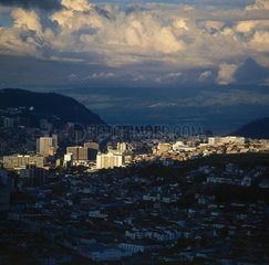 Blick ueber Quito