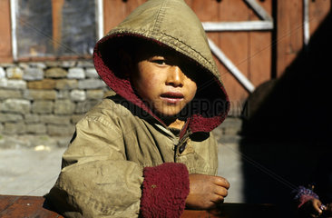 Junge im Annapurna Gebiet  Nepal