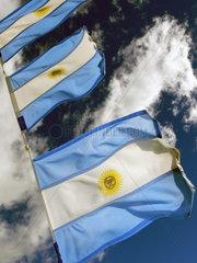 Argentinien  Patagonien: Argentinische Nationalflaggen
