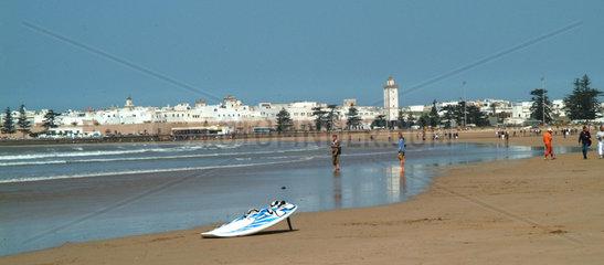 Marokko: Kiteboarding Strand von Essaouira