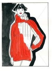 Modetrends Rollkragenpullover oversized in Trendfarbe rot