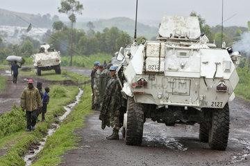 Goma  Demokratische Republik Kongo  Patrouillefahrt der MONUC
